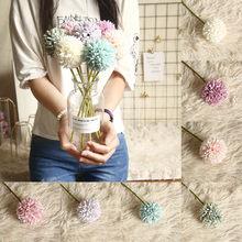 1pc stylowa piękna wielokolorowa sztuczna sztuczna plastikowa roślina kwiaty dom ogród ślubna dekoracja pulpit uchwyt na rękę