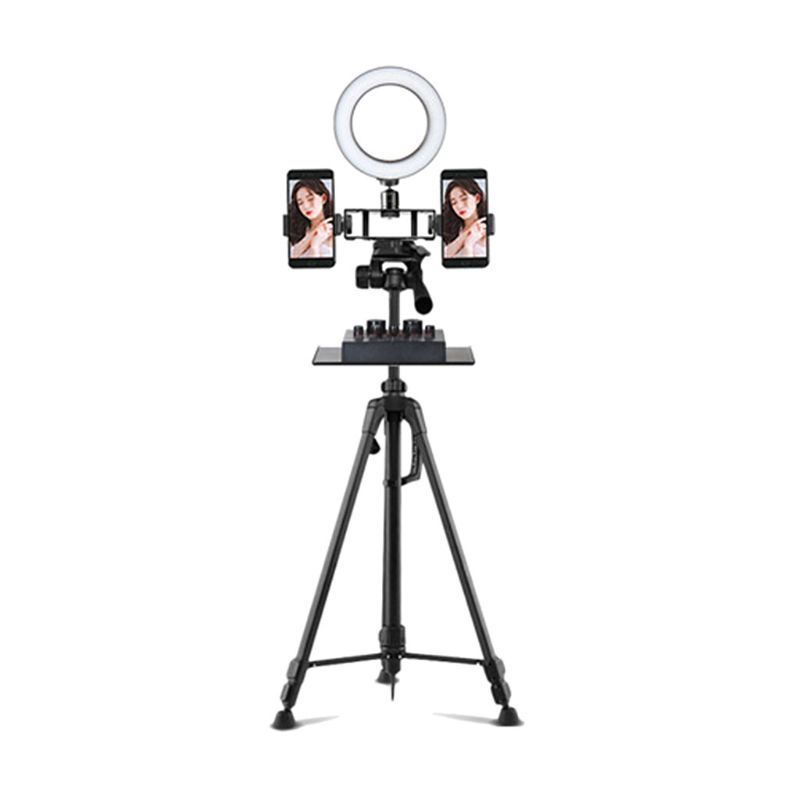 200x130MM Sound Card Tray Live Broadcast Microphone Rack Stand Phone Clip Holder W91A