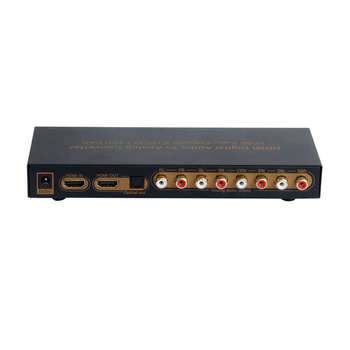 Hdmi To Hdmi Optical Digital To Analog Audio Extractor 7.1Ch Converter Lpcm Audio Dac Hdmi To 7.1 Channel Audio Converter фото