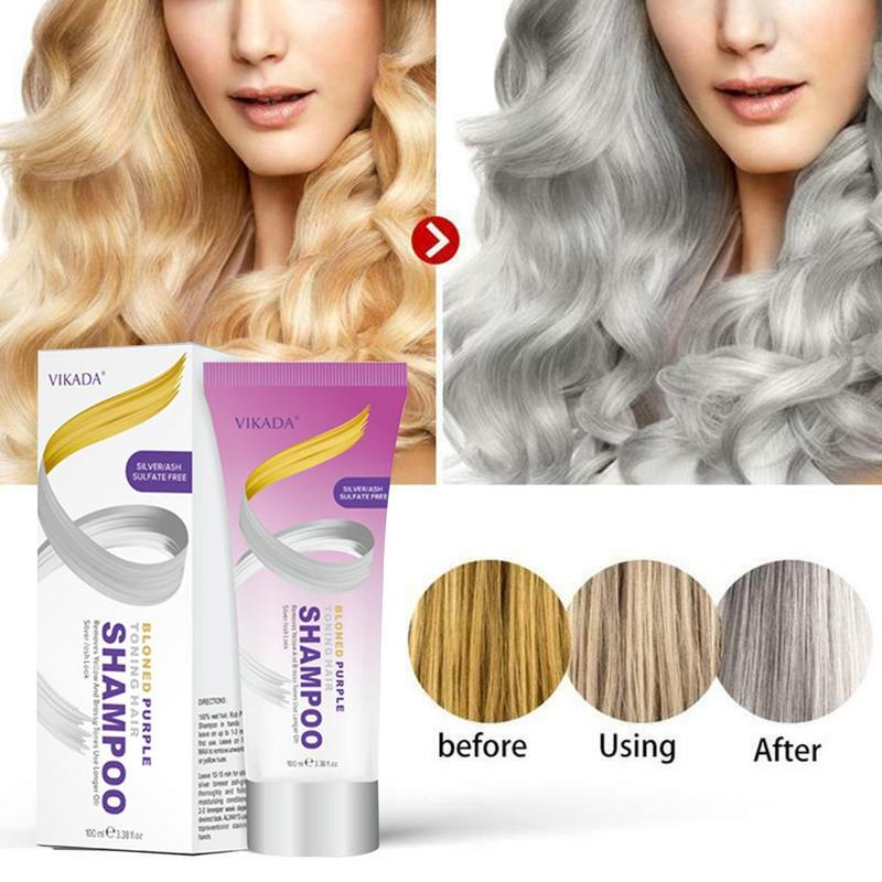 100ml Nature Permanent Super Hair Dye Cream Yellow And Brassy Tones To Silver Blonde Bleached Gray Hair Dye Effective Shampoo image