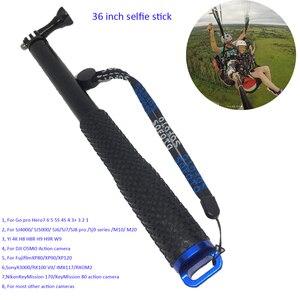 Image 1 - 36 zoll Aluminium Einbeinstativ Selfie Stick für Go pro 7 6 5 4 3 2 1 Sj4000 Sj6 Sj7 Sj8 pro Yi 4 K DJI OSMO H8 H8R H9 H9R Action Kamera