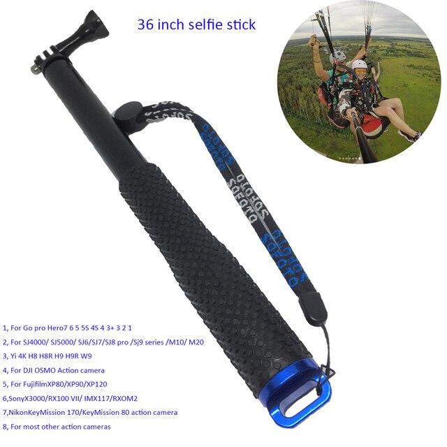 Polegada de Alumínio Vara Selfie Monopé para Go pro 7 36 6 5 4 3 2 1 Sj4000 Sj6 Sj7 Sj8 pro Yi 4 K DJI OSMO H8 H8R H9 H9R Action Camera