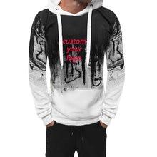 Мужской лоскутный комплект Модный пуловер толстовка с капюшоном