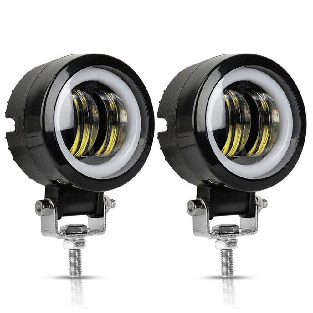 12V-80V Waterproof Round Angel Eyes LED Light Portable Spotlights Motorcycle Offroad Truck Driving Car Boat Work Light