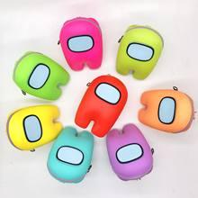 10cm 2021 novo entre nós silicone moeda bolsa fone de ouvido saco brinquedos anime jogo de armazenamento pingente decoração crianças presentes de aniversário