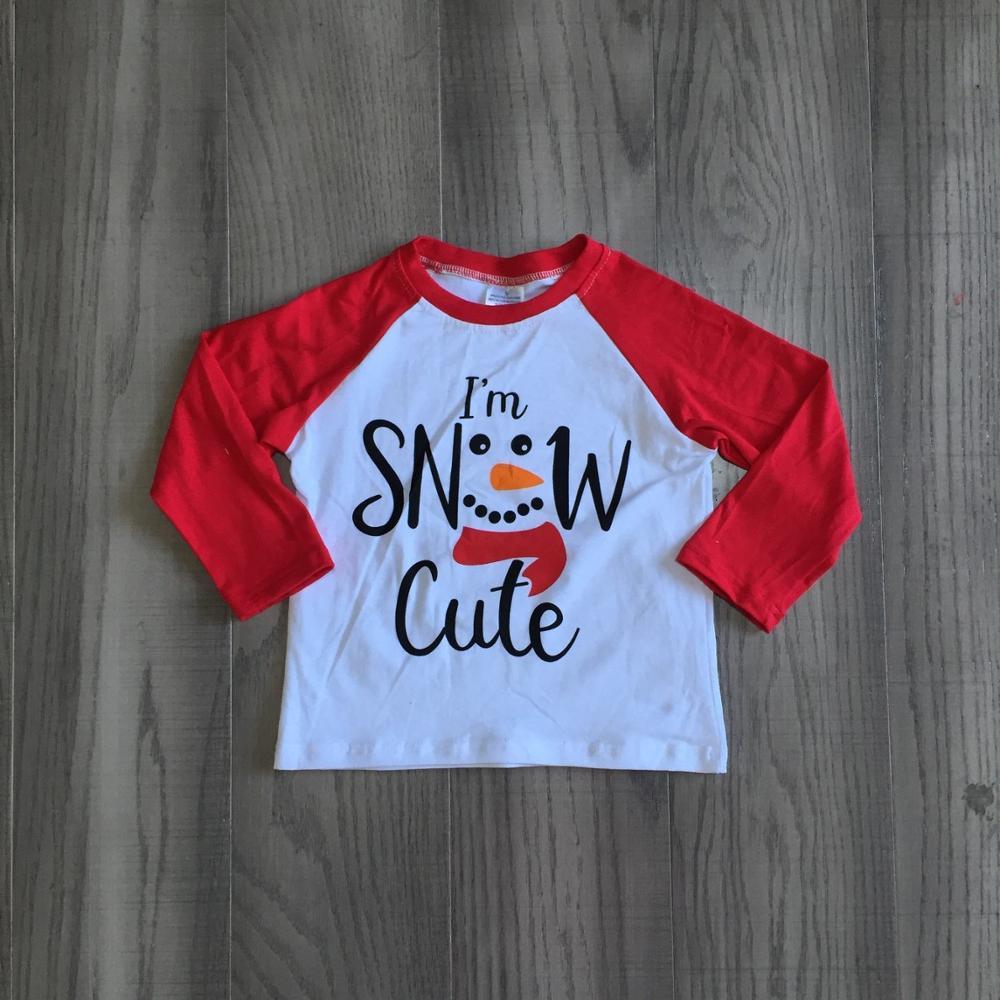 Girlymax Christmas Fall/Winter baby Boys Santa Claus Snowman Camo Plaid boutique t-shirts clothes cotton top raglans long sleeve 2
