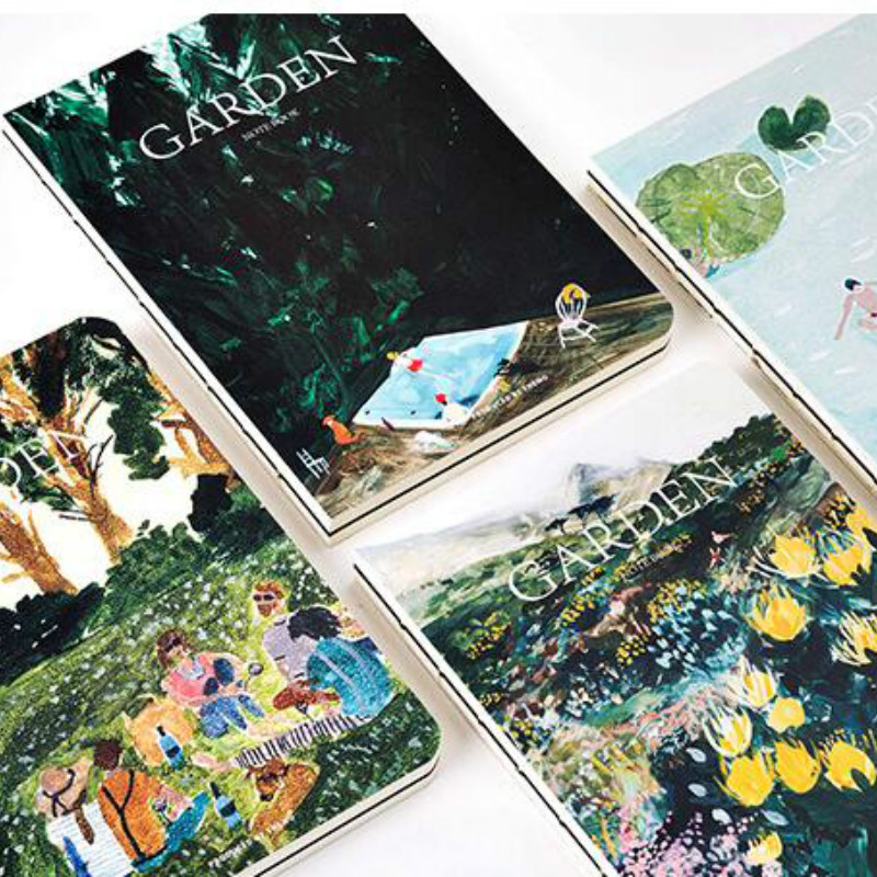 Summer Garden Theme Floral Notebook 18.3*13cm 80 Sheets Blank Page Sketchbook Diary Students Gift Free Shipping