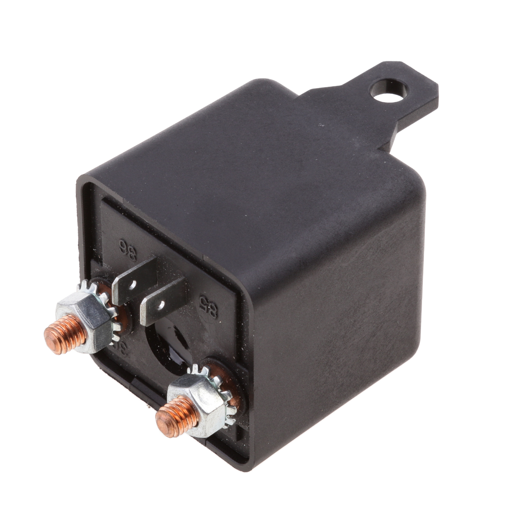 Automotive Relays Switch 12V 200A 4 Pin Universal Starter Relay Switch Car Auto Boat 200Amp Black Heavy Duty Split Charge ON//OFF Switch Relays