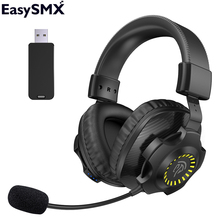 EasySMX V07W 2 4G Wireless Headphones Gaming Headset with Microphone 7 1 Virtual Surround Sound RGB Headphone For PC PS4 Gamer cheap Balanced Armature CN(Origin) 38dB Bluetooth 80mW for Video Game NONE User Manual Charging Cable 3 5mm Jack Adapter up to 32 Ω