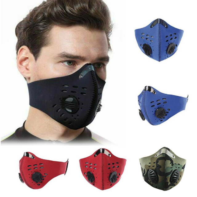 Adult Reusable PM2.5 Anti Flu Safety Elastic Filter Breathable Face Masks Outdoor Bicycle Face Shield