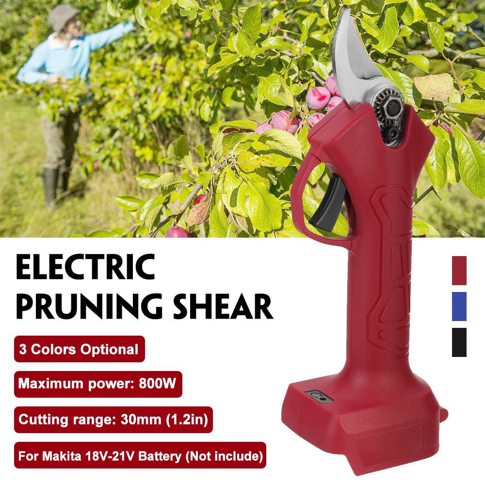 Cordless Electric Pruning Shear Scissors Efficient Fruit Tree Bonsai Pruning Branches Cutter Pruner Garden Tools For Makita 18V