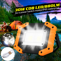 30W 800LM COB LED Portable Spotlight Rechargeable Outdoor Working Light For Hunting Camping Lamp Floodlight Searchlight|Floodlights| |  -