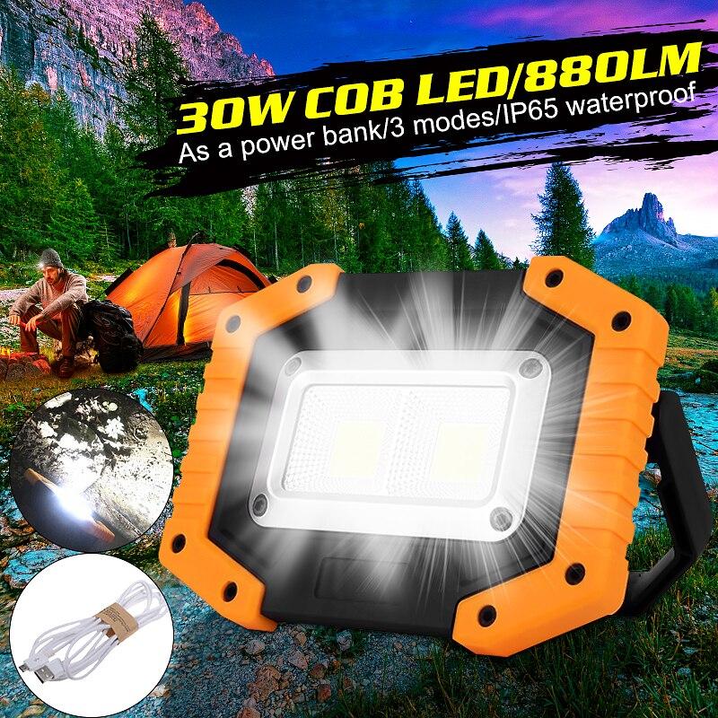 COB LED Scheinwerfer 800LM Weitwinkel Beleuchtung Taschenlampe für Outdoor-Nacht