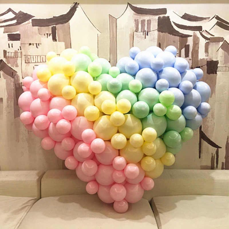 DCM 1pcs 10 นิ้ว Multicolor Pastel Candy บอลลูนงานแต่งงานบอลลูนรอบ Macaron บอลลูน Arch ตกแต่ง @ 09