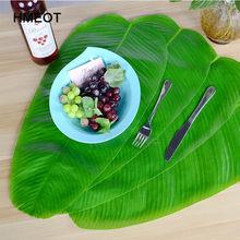 58cm wysokiej jakości hawajski liść bananowca mata na stół sztuczne rośliny zielone liście salon pulpit ściany Home Decor sztuczne rośliny
