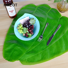 Table-Mat Banana-Leaf Fake-Plants Green-Leaves Desktop-Wall Living-Room Home-Decor Hawaiian