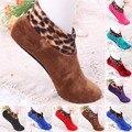 1 пара утепленных носков унисекс Зимние теплые Нескользящие эластичные носки для мужчин и женщин домашние носки-тапочки 8 цветов