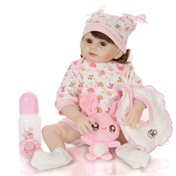 Latest design different stylesl reborn boneca Baby vinly girl Doll lifelike curls simulation mold Toys kids Early education gift