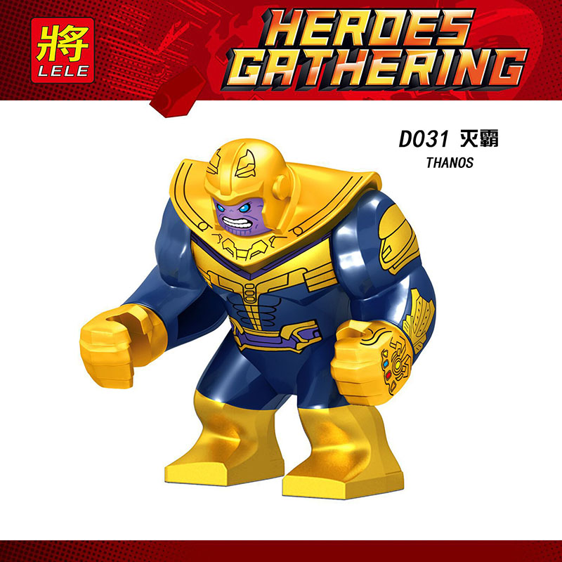 Big Size Single Sale Legoinglys Super Heroes Avengers 4 Infinity Figures Thanos Infinity Gloves Bricks Collection Toys Gift D031