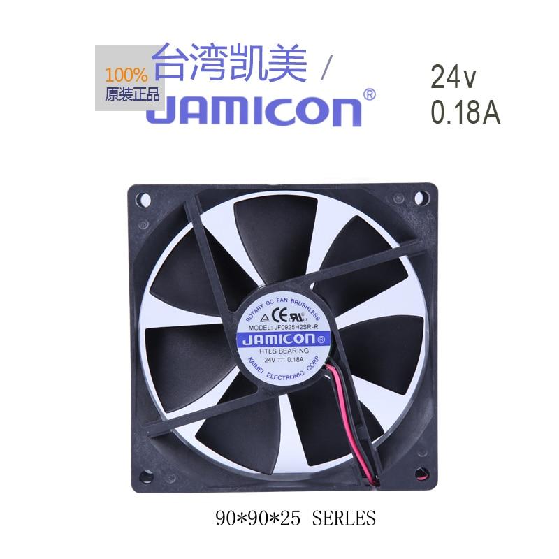 JAMICON KF0925H2SR-r 24 v 0.18 A 9 cm 9025 2 linii wentylatory chłodnicy cichy wentylator