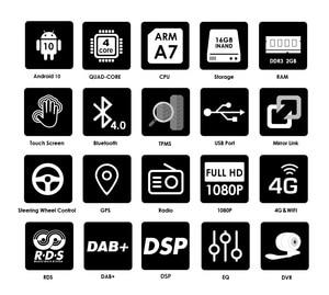 "Image 2 - Android 10,0 für Chevrolet Silverado GMC Sierra Yukon Chevy Tahoe Suburban 7 ""Auto DVD Stereo RADIO SWC BT RDS DVR 4G WIFI TPMS"