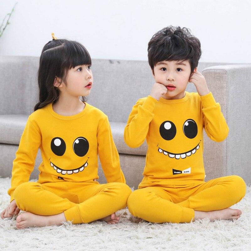 2020 outono crianças pijamas conjuntos bebê menina menino roupas pijamas meninas do bebê meninos meninas dos desenhos animados manga longa camiseta + calças 2 pçs