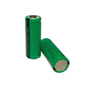 Image 4 - 10 sztuk 2/3 aaa bateria 400 mah 1.2 v nimh 2 3 akumulatory aaa płaskie góry na światło słoneczne zabawki