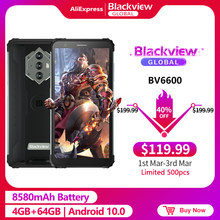 Blackview a BV6600 IP68 8580mAh impermeable resistente Smartphone 4GB + 64GB 5,7