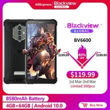 Blackview BV6600 IP68 Водонепроницаемый 8580 мА/ч, прочный смартфон 4 Гб + 64 Гб 5,7 ''android 10,0 Octa Core, 4G, NFC большой аккумулятор для мобильных устройств телефон