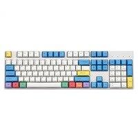 104 chaves/conjunto pbt tintura giz de sublimação carbono keycap teclado mecânico gravação a laser chave para mx switches cereja perfil