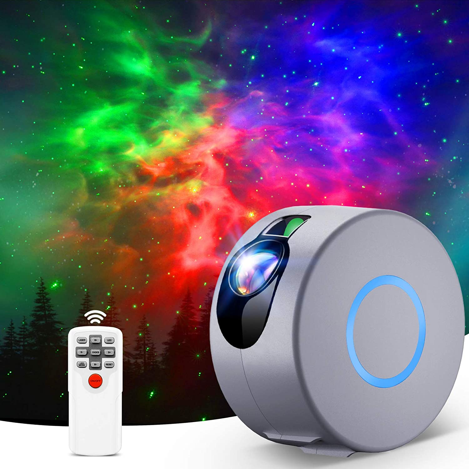 Star Projector Galaxy Projector Light with LED Nebula Cloud Night Light Projector with Remote Control for Bedroom