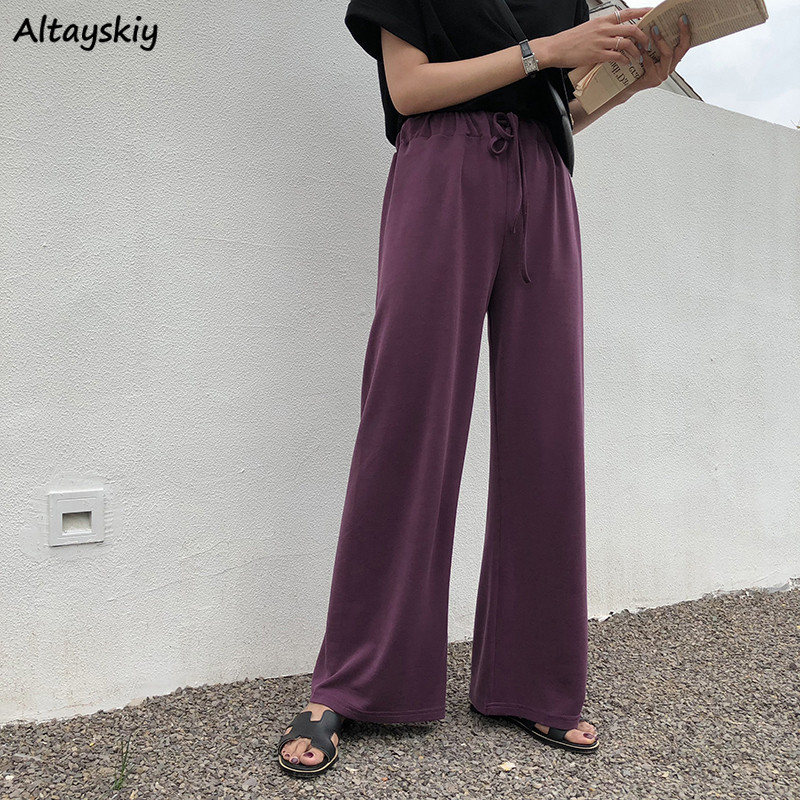 Pants Women Long Trousers Drawstring Korena Style High Quality Ladies Harajuku Students Solid Streetwear Womens Large Size 4XL