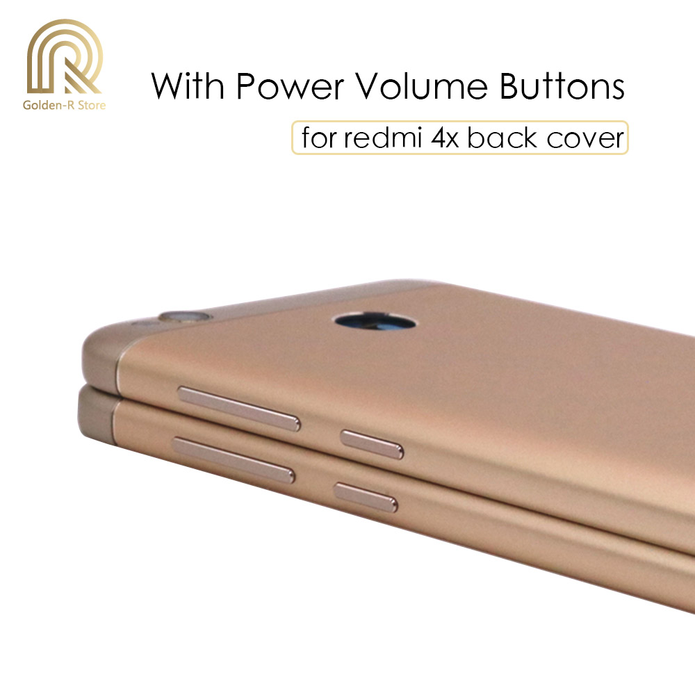 XIAOMIN Battery Back Cover with Side Keys for BQ Aquaris U Lite Replacement Gold Color : Gold