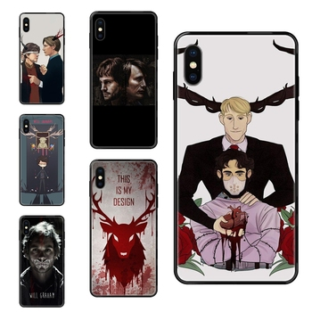 Graham Hannibal Mads Mikkelsen For Xiaomi Redmi Note 4 5 5A 6 7 8 8T 9 9S Pro Max Black Soft TPU Live Love Phone Personalized image