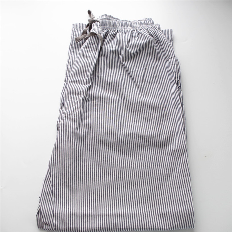 Pajama pants for men Plain cloth stripe Cotton Man's lounge Sleep Bottoms