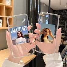 Lana Del Rey transparente de la caja Del teléfono suave para iphone 5 5s 5c se 6 6s 7 8 11 12 plus mini x xs x xr pro max