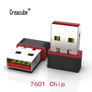 Creacube USB 와이파이 무선 네트워크 카드 150M 802.11 b/g/n LAN 어댑터 MT 7601 칩 노트북 PC 미니 와이파이 동글
