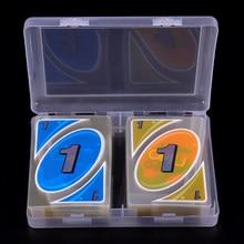 Lot de 108 cartes à jouer en plastique PVC Transparent, avec une boîte étanche et résistante à la pression, jeu de divertissement familial
