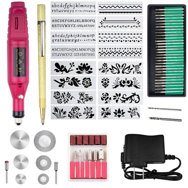 EASY-70-Piece Engraving Tool Kit, Multi-Function Electric Engraver Pen Diy Rotary Tool For Jewellery Glass Ceramic Wood Plastic