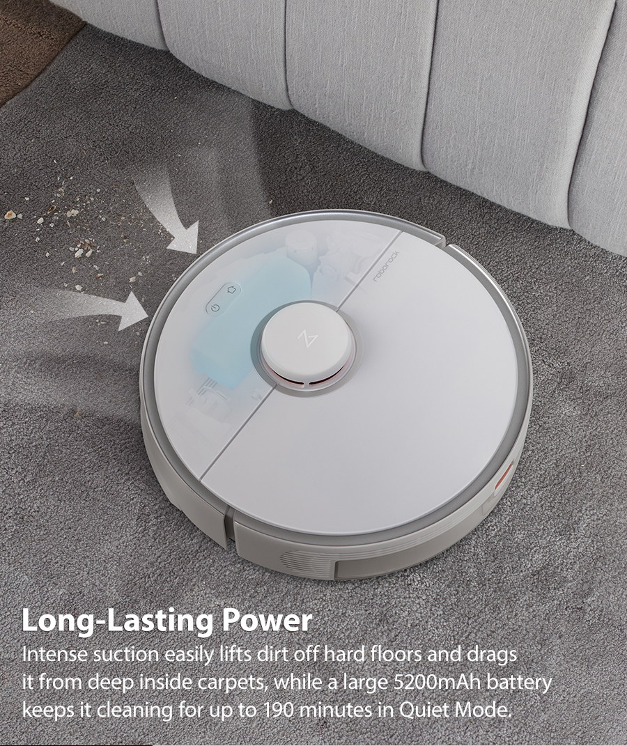 H68c64bdc992e47449af236e9eaa8bcd44 2020 New Arrival Roborock S5 Max Robot Vacuum Cleaner Xiaomi Mijia S5max cordless for home upgrade of S50 S55 collect pet hairs