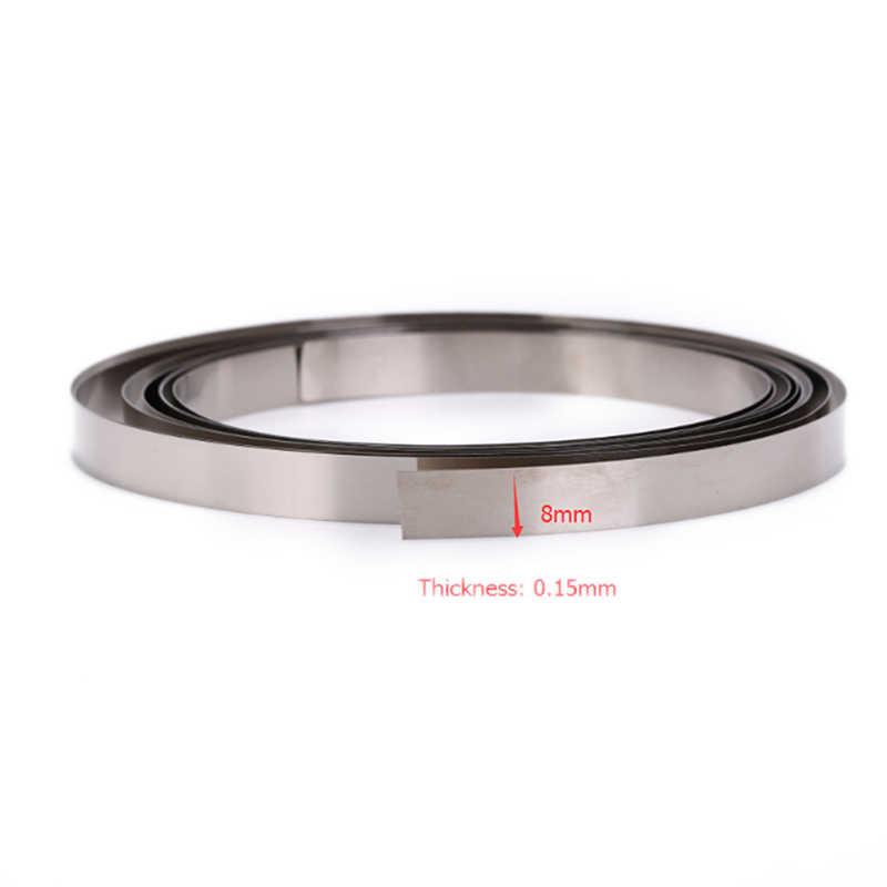 ماكينة لحام البقعة 8 مللي متر x 0.1/0.12/0.15 مللي متر 2 متر النيكل النقي شريط إضاءة طويل ل بطارية ليثيوم 18650 بقعة لحام متوافق