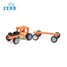 SZ STEAM Model Toy Diy Assembling wooden electric train Developing Intelligent STEM Science Electric Puzzle toy SZ3282