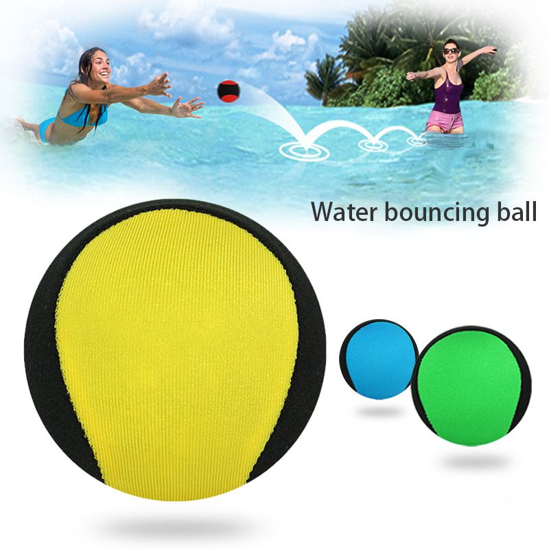 Water Bouncing Ball Lightweight Soft Elastic Stress Relief Toys Beach Play Pool Accessories Water Bouncing Ball Swimming Toys