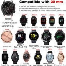20mm brand Leather Strap Watchband For Samsung Galaxy Watch4 40 44mm/Watch 4 Classic 42 46mm Original Wristbands Bracelet Belt