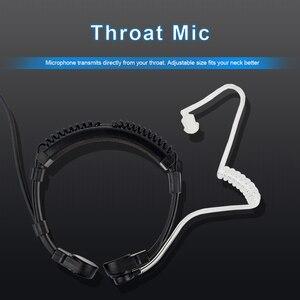 Image 3 - 2 Pin גרון מיקרופון PTT אוזניות עבור KENWOOD TYT BAOFENG UV 5R BF 888S UV 5R Retevis H777 RT5R חזיר רדיו ווקי טוקי C9026A
