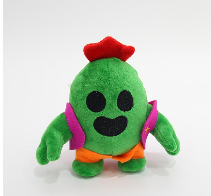 Kawaii 13cm Anime Game Spike Model Doll Plush Stuffed Toy Cactus Soft Stuffed Toys For Children Kids Christmas Gift Keychain