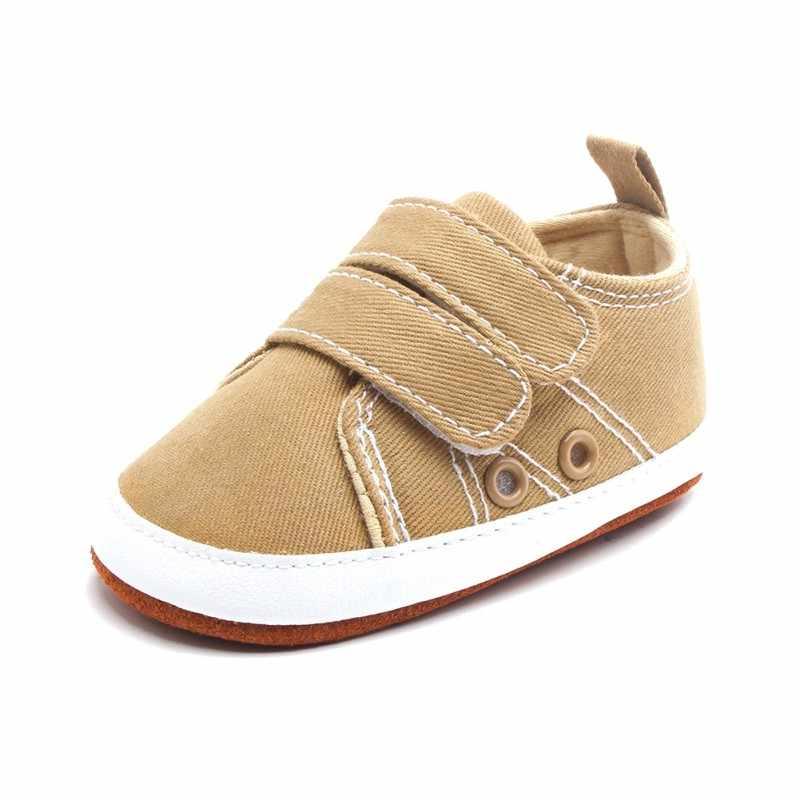 الوليد طفل الفتيان الكلاسيكية وسيم الأولى مشوا أحذية فاتنة طفل رضيع الصبي قماش أحذية رياضية من الجلد عادية 0-18 أشهر