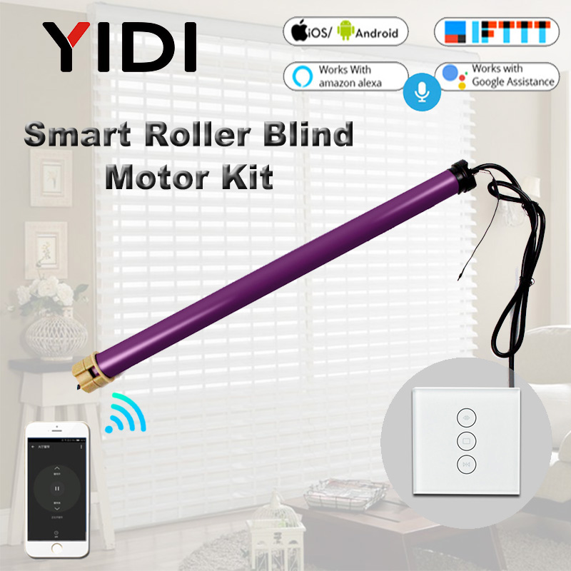 35mm Tubular Motor Roller Blinds Shutter Motor 110V 220V Electirc Smart Wifi Curtain Motorized Rolling Blinds Tuya Smart Home-in Automatic Curtain Control System from Home Improvement