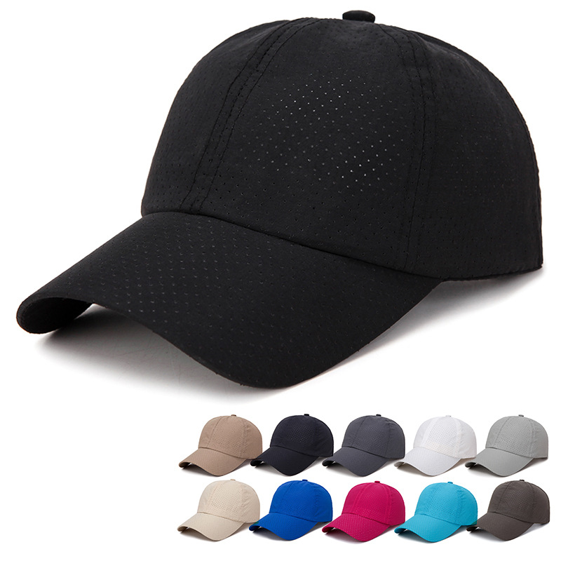 New Men's Summer Outdoor Leisure Baseball Cap Korean Version Light Body Simple Quick-drying Hats Fashion Breathable Mesh Caps