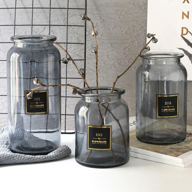 Nordic Design Glass Vase European Decoration Home Flower Vase Flower Arrangement Hydroponic Tabletop Vase For Flower Decoration 1